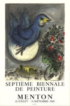 1968 After Marc Chagall 'The Bluebird (L'Oiseau Bleu)' Modernism