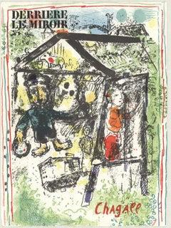 1969 Marc Chagall 'Derriere Le Miroir Cover' Modernism Multicolor Lithograph