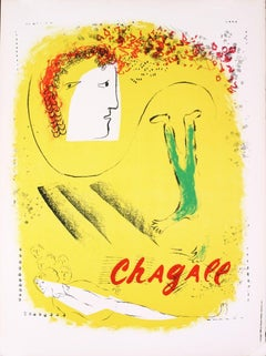 1969 After Marc Chagall 'The Yellow Background' Modernism France Lithograph