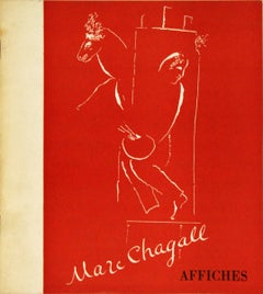 1970 After Marc Chagall 'Marc Chagall Affiches' Modernism Red,White Book