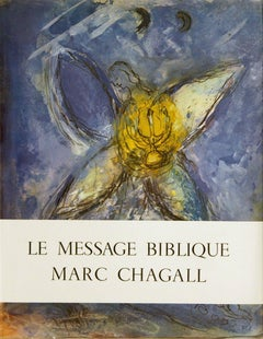 1972 After Marc Chagall 'Le Message Biblique Marc Chagall' Modernism Multicolor