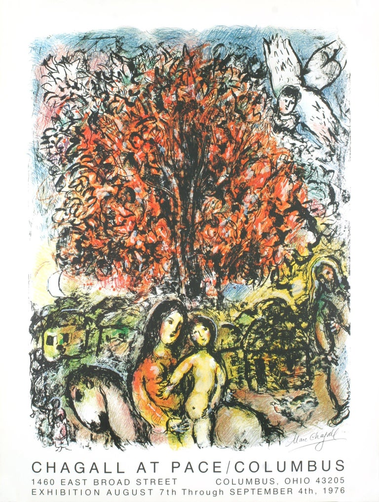 1976 After Marc Chagall 'Sainte Famille' Modernism Multicolor - Print by Marc Chagall