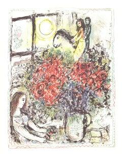 1979 Marc Chagall 'La Chevauchee (The Ride)' Modernism Multicolor USA Lithograph