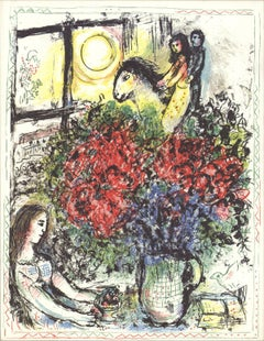 1979 Marc Chagall 'La Chevauchee x 50 cards' Modernism Multicolor