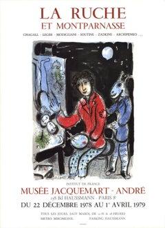 1979 Marc Chagall 'La Ruche' Modernism Multicolor France Lithograph