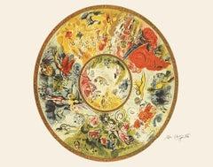 1995 Marc Chagall 'Paris Opera Ceiling' Modernism Green,Yellow Offset Lithograph