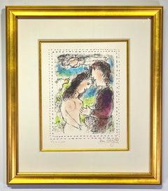 "Marc Chagall ""A l'Aube de l'amour"""