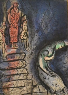"Ahasuerus Sends Vashti Away - from  ""Illustrations for the Bible"" -  1960"