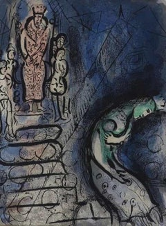 Ahasuerus Sends Vasthi Away - Original Lithograph by Marc Chagall - 1960s