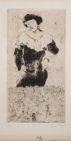Bella - 1920s - Marc Chagall - Etching - Surrealist