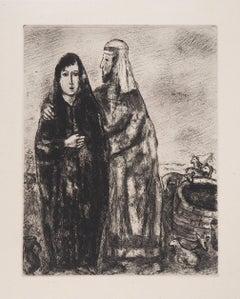 Bible: The Meeting of Rachel and Jacob, 1958 - Original Etching