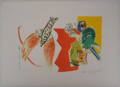 Blessing at the Circus - Original handsigned lithograph (Mourlot #470a)