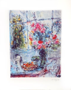 Bouquet with Open Window
