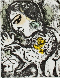 """Carte de Voeux #731,"" Lithograph by Marc Chagall in Chagall Catalog Raisonne"