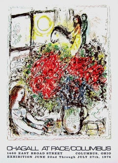 Chagall at Pace Columbus, 1974 Event Lithograph, Marc Chagall