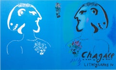 """Cover of ""Chagall Lithographe IV,"" (M 729),"" an Original Lithograph by Chagall"