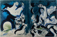 """Cover of VERVE, Vol X, No. 37-38"" Original Color Lithograph by Marc Chagall"