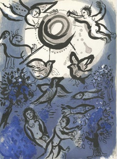 """Création (Creation), M 234/257,"" Original Color Lithograph by Marc Chagall"