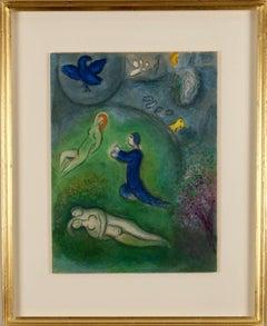 'Daphnis and Chloé'. Original colour lithograph.