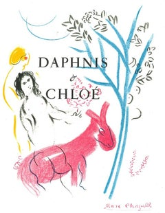 Daphnis and Chloè - Original Lithograph after Marc Chagall - 1982