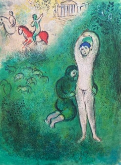 Daphnis and Gnathon, Daphnis & Chloe 1977 Limited Edition, Marc Chagall