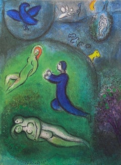Daphnis and Lycenion, Daphnis & Chloe 1977 Limited Edition, Marc Chagall