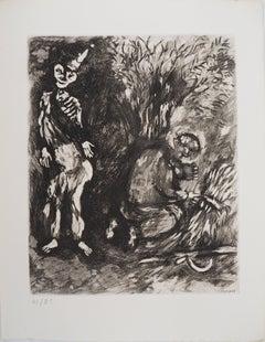 Death and The Lumberjack - Original Etching - Ref. Sorlier #101