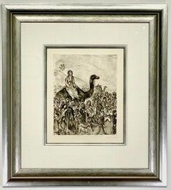 """Marc Chagall """"Depart de Jacob pour l'Egypte Sorlier 221"""""""