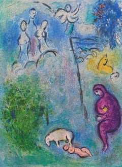 Discovery of Chloe by Daphnis, Daphnis & Chloe 1977 Limited Edition Marc Chagall