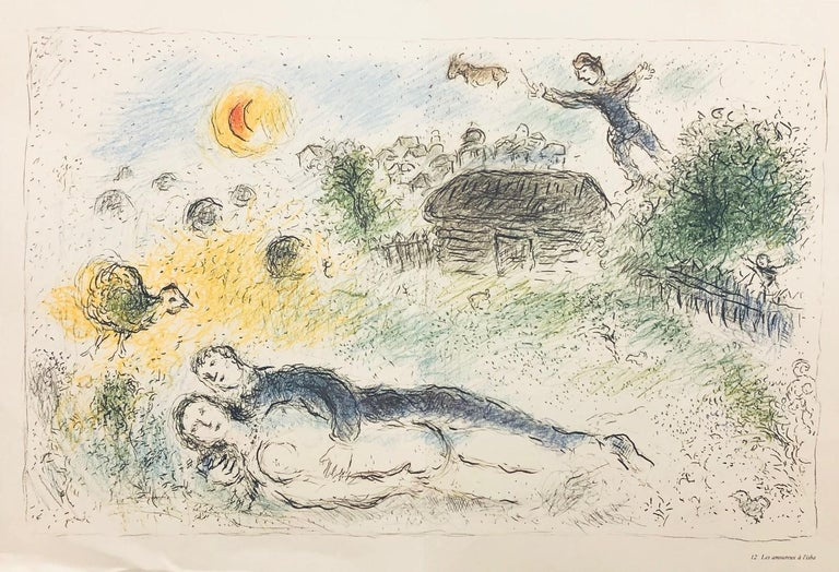 Double-sided prints (three total images) believed to be from Derrière le miroir - Print by Marc Chagall