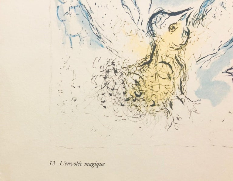Double-sided prints (three total images) believed to be from Derrière le miroir - Gray Figurative Print by Marc Chagall