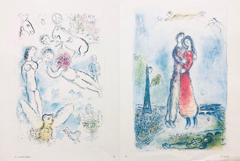 Marc Chagall Figurative Print - Double-sided prints (three total images) believed to be from Derrière le miroir