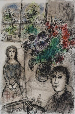 Easel with Flowers  Le Chevalet aux Fleurs