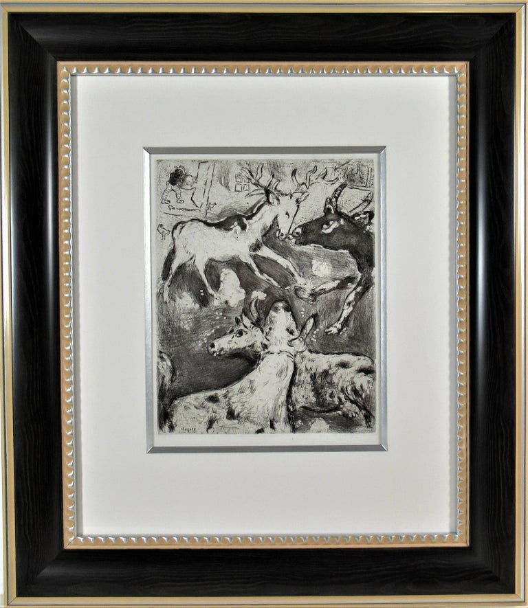 "From the suite ""Les Fables De La Fontaine"" original etching"