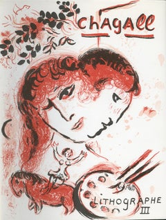 """Front Cover of ""Chagall Lithographe III,"" M 577,"" Original Color Lithograph"