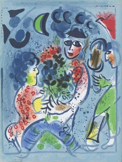 """Frontispiece of ""Chagall Lithographe III,"" M 578,"" Original Color Lithograph"