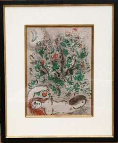Garden of Eden, Lithograph by Marc Chagall 1960