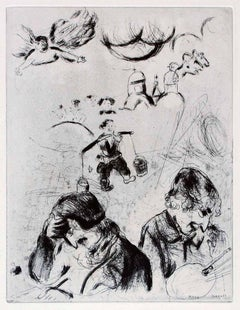 "Gogol et Chagall - Original Etching From the series ""Les Ames Mortes"" - 1923/27"
