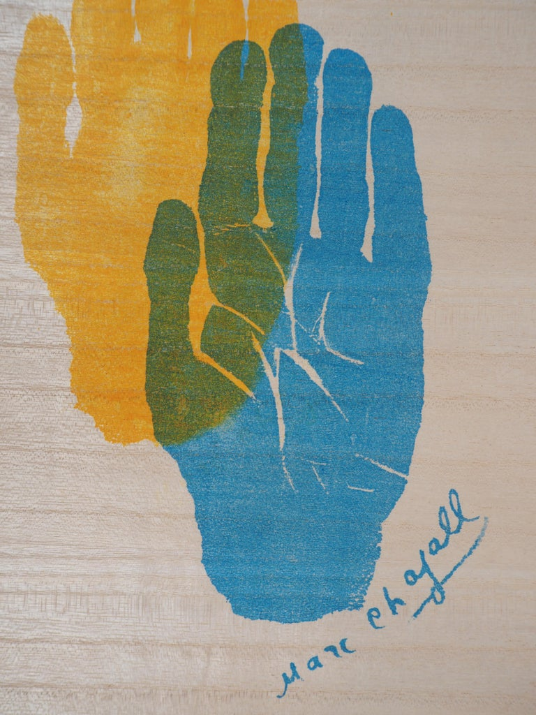 Hand of the Artist - Original lithograph - 1962 - Realist Print by Marc Chagall