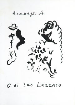 Hommage à San Lazzaro - Original Lithograph by M. Chagall - 1975