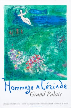 """Hommage a Teriade - Grand Palais"" Chagall Original Vintage Exhibition Poster"