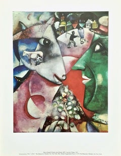 I and the Village, 1972 Museum of Modern Art Exhibition Lithograph, Marc Chagall
