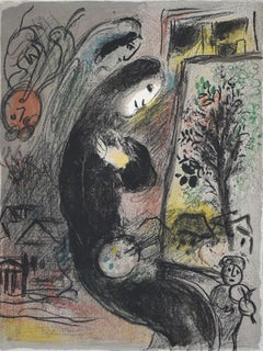 Inspired  L'Inspiré - Chagall, Lithograph, Original print, handsigned