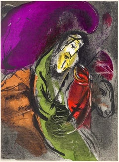 "Jeremiah ""Illustrations for the Bible"" - Original Lithograph by M. Chagall- 1956"