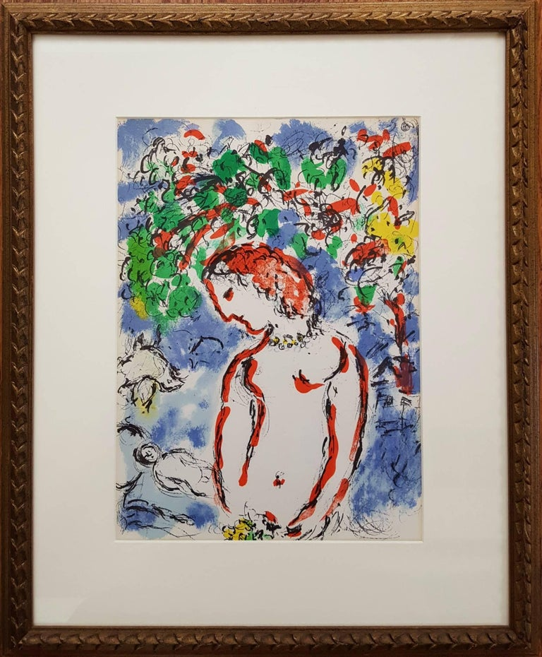 Jour de Printemps (Spring Day) - Gray Figurative Print by Marc Chagall