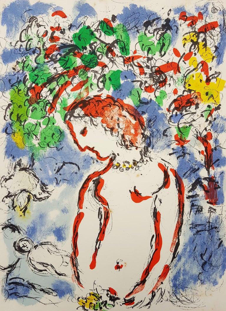 Marc Chagall Figurative Print - Jour de Printemps (Spring Day)