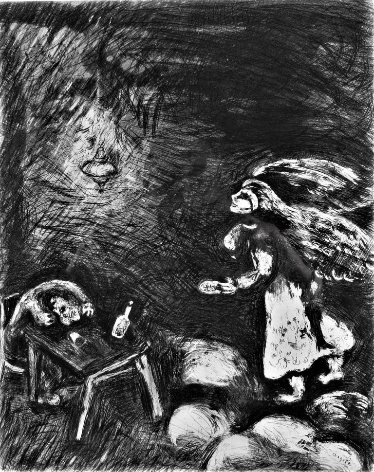 l' Ivrogne et sa Femme - Print by Marc Chagall