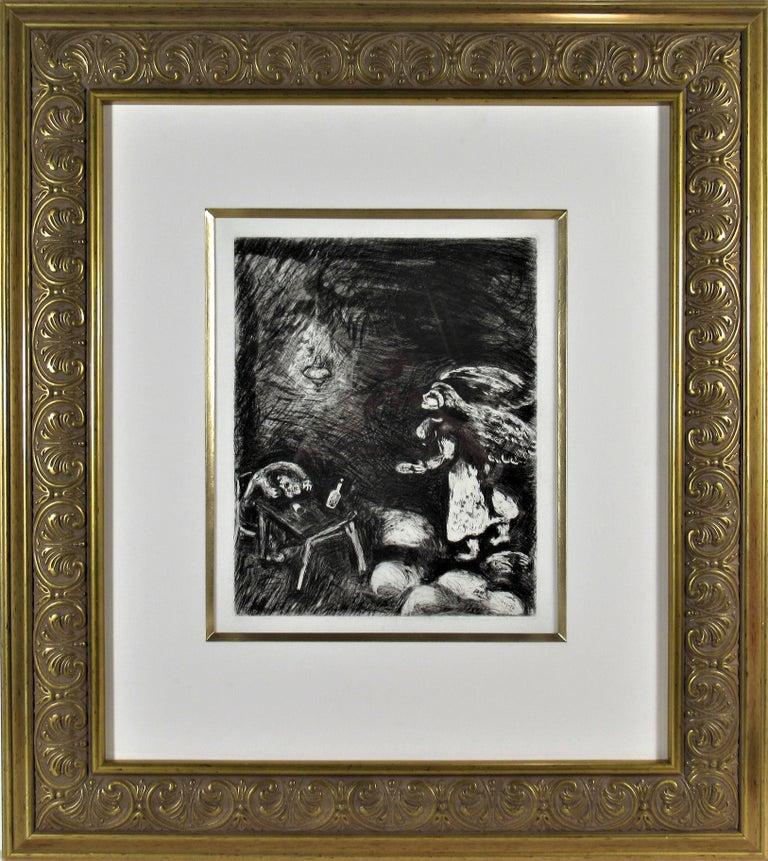 Marc Chagall Figurative Print - l' Ivrogne et sa Femme