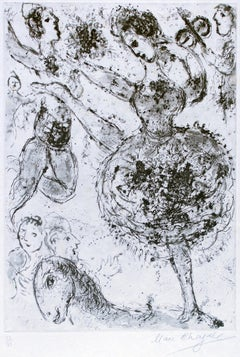 La Grande Danseuse - Original Etching by Marc Chagall - 1967