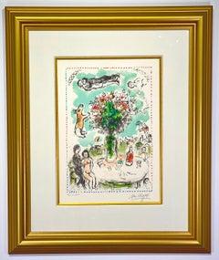 "Marc Chagall ""La Table des amant"""